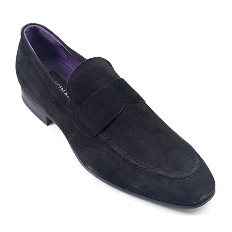 black suede loafers buy mens black suede loafers gucinari mens loafers