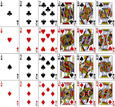 printable playing cards sheets 7 best images of printable mini deck of playing cards