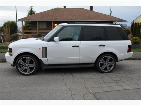 matte white range rover 2003 range rover matte white 22 rims outside comox valley