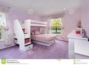 Quarto da menina com cama de beliche fotografia de stock imagem