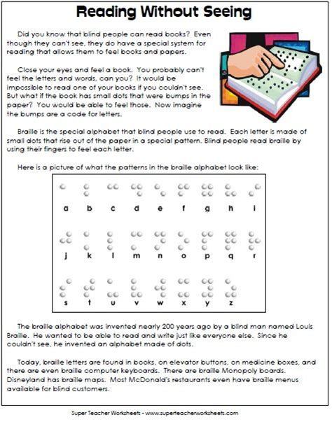 Braille Worksheets Printables by The World S Catalog Of Ideas