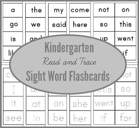 printable flash cards sight words for kindergarten read trace sight word flashcards for kindergarten you