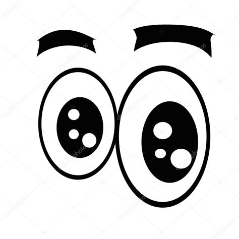 imagenes de ojos grandes animados ojos de dibujos animados choque foto de stock