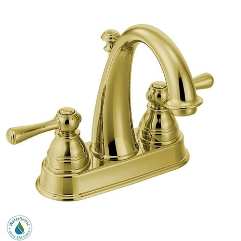 Polished Brass Bathroom Fixtures Faucet 6121p In Polished Brass By Moen