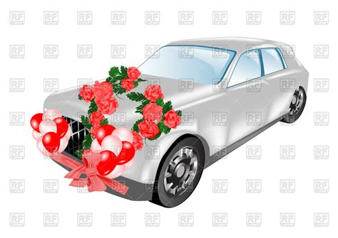 wedding car clipart wedding car limousine decorated with flowers