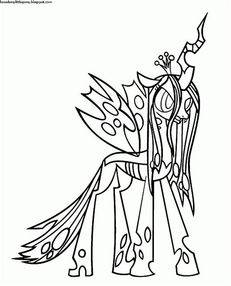 moon pie coloring page dibujo para colorear de la reina chrysalis de my little