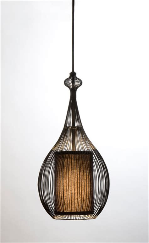 Fabric Pendant Lights Paavo Pendant Black With Black Fabric Shade