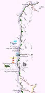map central california coast tourist map pacific coast