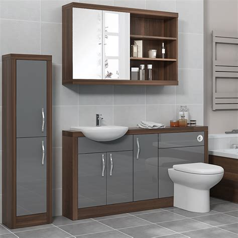 grey bathroom furniture lucido 1500 fitted bathroom furniture pack grey jax bathrooms