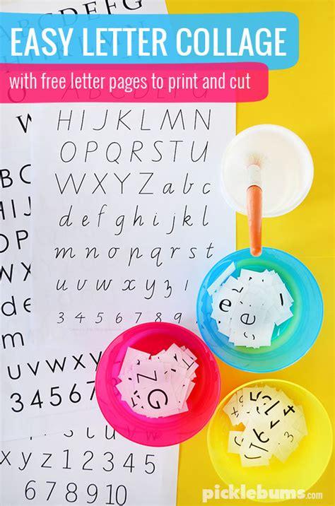 easy letter collage picklebums