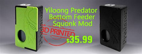 Squonk Bottom Feeder 3d Printed Mechanical Mod By Science4 Model A yiloong predator bf squonk mech mod lightweight