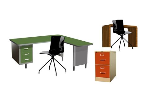 Free Office Furniture by Vector Office Furniture Free Vector Stock