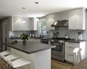 white kitchen cabinets with grey countertops 3523