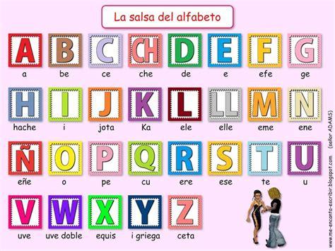 el abecedario salsa del alfabeto alfabeto pinterest salsa