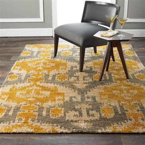 gold and gray rugs gray and gold ikat jute brush cut rug