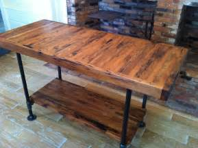 wood kitchen island table kitchen island industrial butcher block style reclaimed