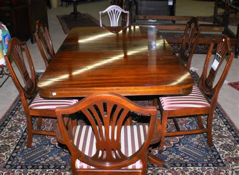 duncan phyfe dining room set pictured above is a mahogany duncan phyfe double pedestal
