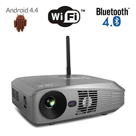 Android Projector Dlp aodin android smart dlp projector portable android 4 4 kitkat arm cortex a17 builtin