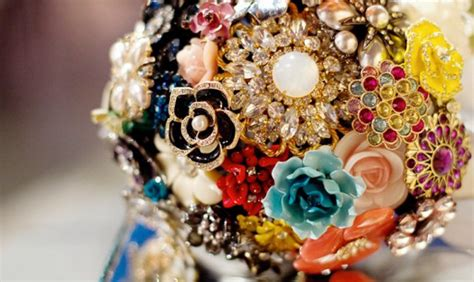 Wedding Bouquet Made Of Brooches by Vintage Brooch Bridal Bouquets A Week From Thursday