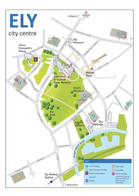 map city centre plan your journey visit ely