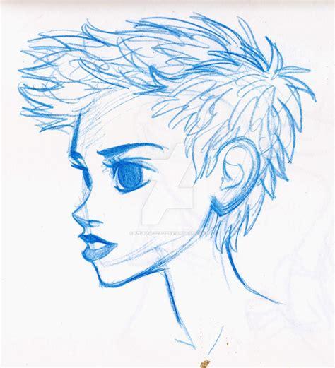 short hairstyles drawings short hair by knufad zzaj on deviantart