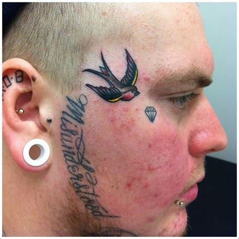 40 jaw dropping face tattoos that will shock you