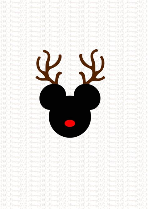 Card Making Machines - mickey mouse reindeer christmas svg cut files cricut png