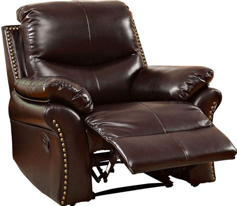 recliner chair brands asstd national brand dunlap faux leather recliner
