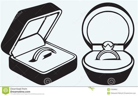 engagement ring in box stock vector illustration of born 37858852