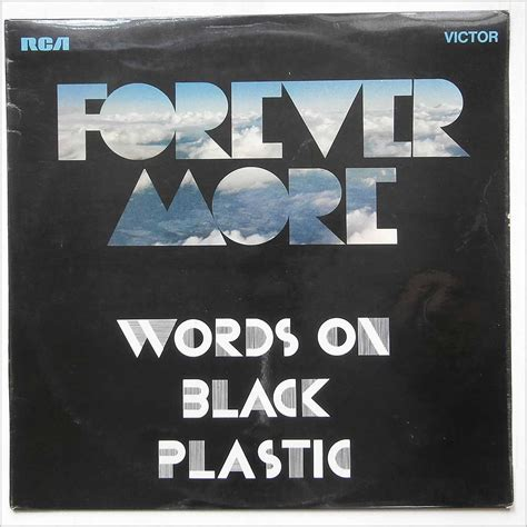 Forever More forever more words on black plastic records lps vinyl