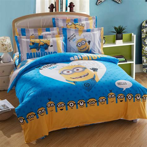 bed sheets queen size minion bed set queen king twin size ebeddingsets