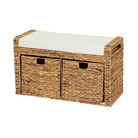 banana leaf bench new woven banana leaf cushioned storage seat with 2