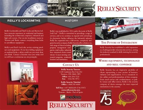 Reilly Security Brochure Services Security Company Flyer Template