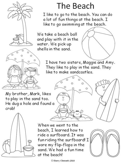 stories for kindergarten read and write summer reading comprehension