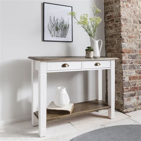 White Hallway Console Table Canterbury Hallway Telephone Table Console In Pine White For From Noa And Nani Uk
