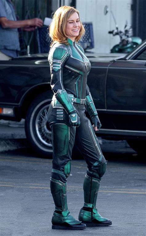 Costume Marvel Captain F766 brie larson s captain marvel costume isn t what fans expected e news