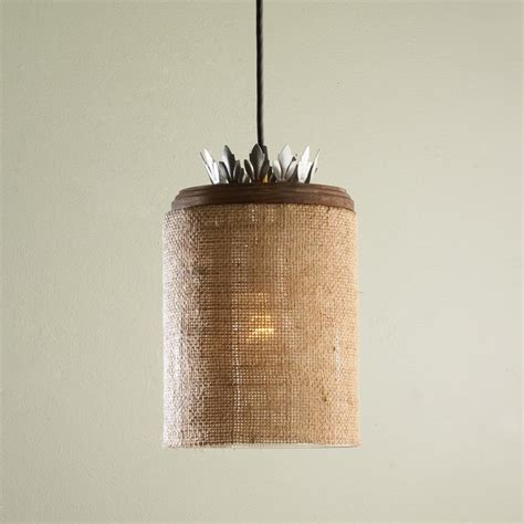 Burlap Pendant Light Burlap And Glass Pendant Light Pendant Lighting By Shades Of Light