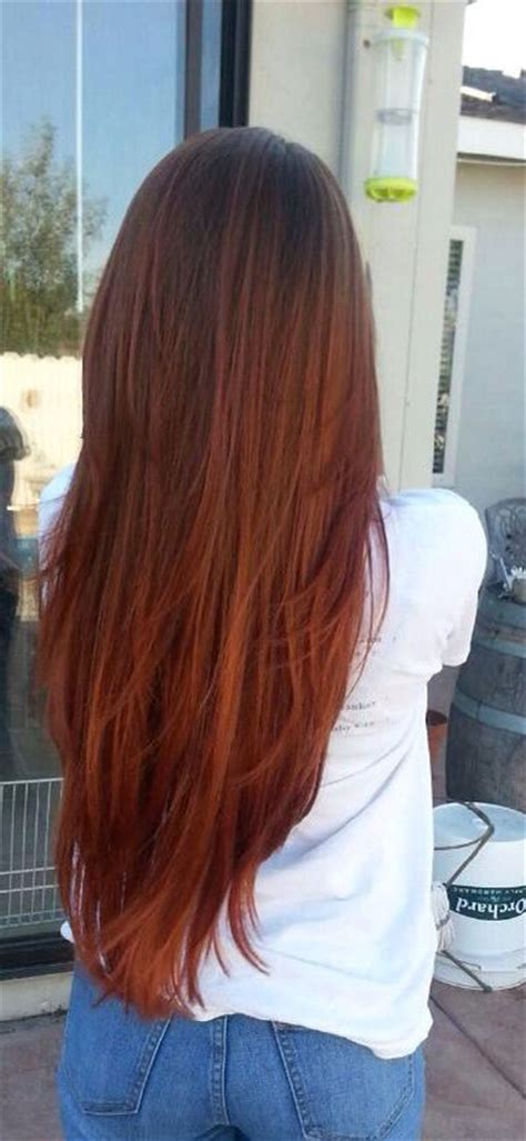 redheadshavemorefun light brown to ombre hair