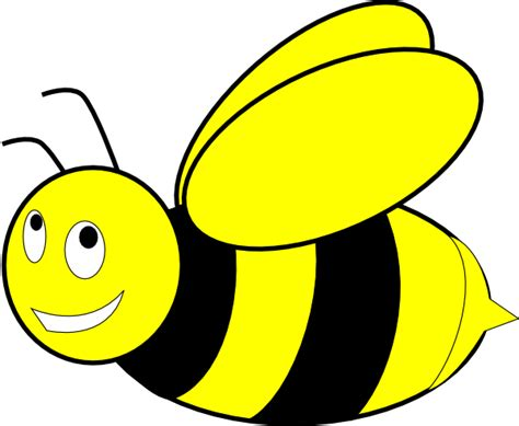 Yellow Bee black and yellow honey bee clip at clker vector clip royalty free