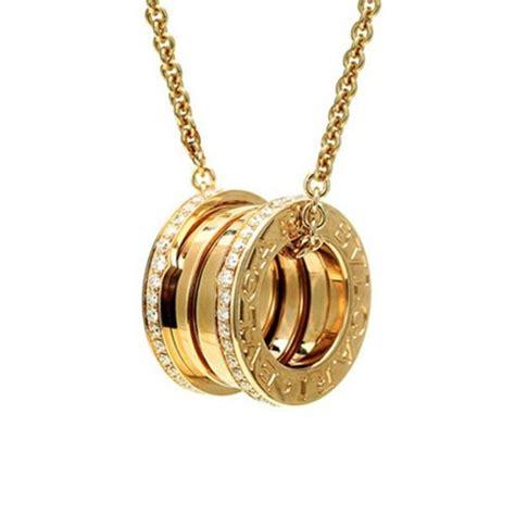 bulgari b zero1 yellow gold necklace with paved