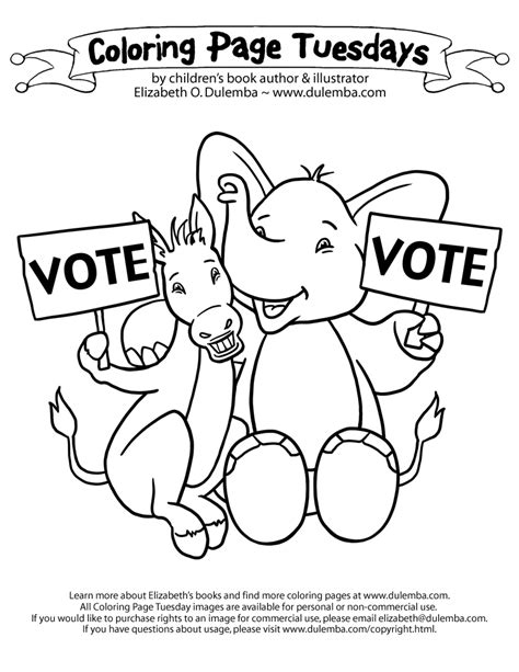 election day coloring pages preschool 14 coloring pictures election day print color craft