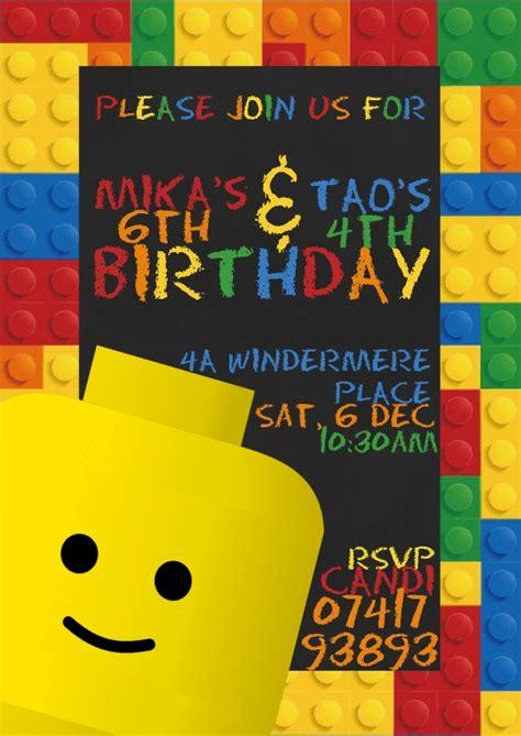lego birthday invitations lego invitations theruntime