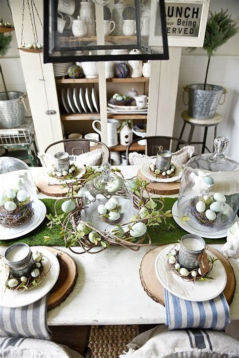 farmhouse spring island vignette thanksgiving kitchen springy easter table great spring easter tablescape