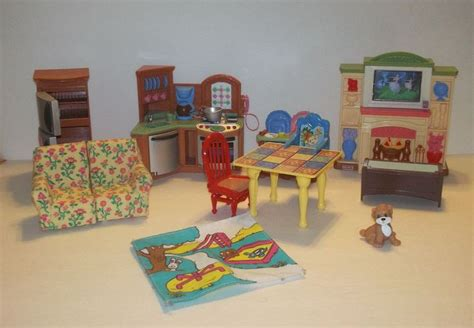 loving family doll house furniture fisher price loving family doll house furniture lot vintage guc sound