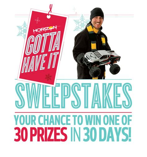 Horizon Hobby Sweepstakes - horizon hobby quot gotta have it quot sweepstakes 30 days of prizes rc car action