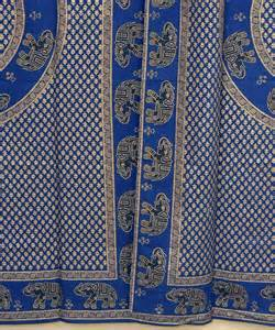 indian fabric curtains indian curtains cotton fabric 2 gold print elephant living