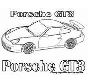 Transmissionpress GT3 Porsche Sports Car Picture Coloring