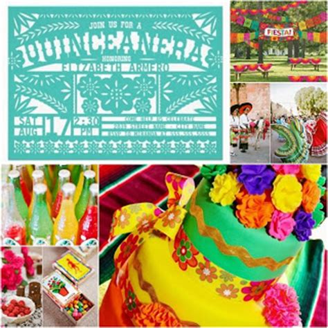 mexican themed quinceanera invitations fiesta sweet fifteen theme quince candles