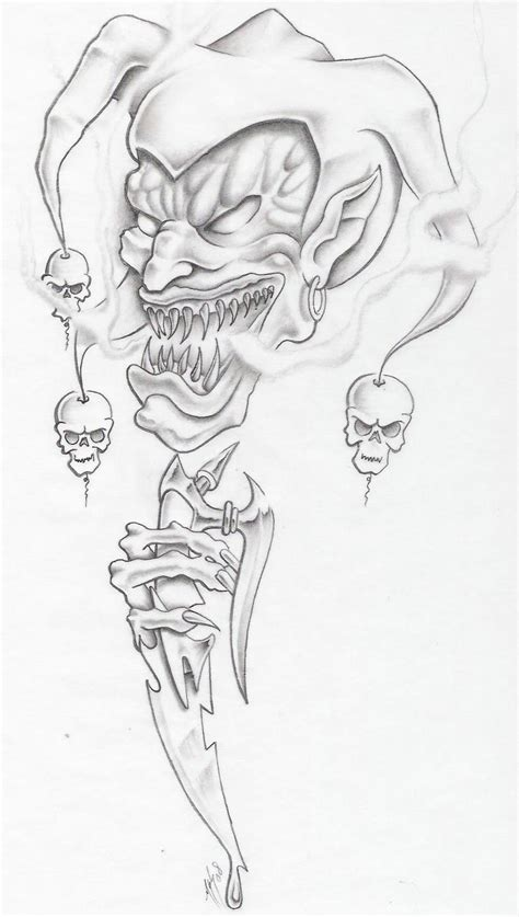 evil joker tattoo designs evil sleeve coloring pages