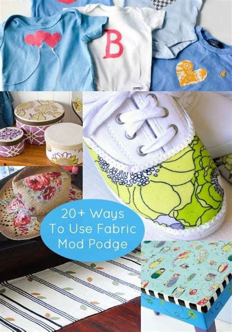 Can You Decoupage Fabric - 20 unique ways to use fabric mod podge mod podge rocks